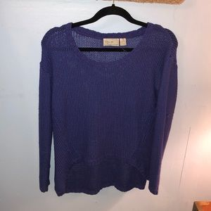 Royal Blue Knit High-Low Sweater Size Med💙